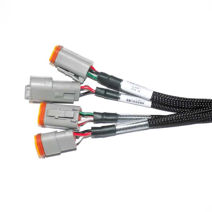 cable assembly with braided sleeve for precision agriculture machinery